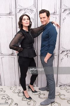 10-10-2016, promo Berlin Station by Richard Armitage and Michelle Forbes. Photo: Mike Pont
