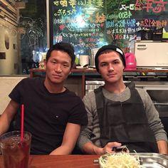 #today's #dinner #time with #2 #professional #soccer #players.  #albirex #niigata #25 & #26 #jleague #j_league #japan #professional #football #league #j1 #pro #futebol #calcio #futbol  #jpn #tonight by djsomechi