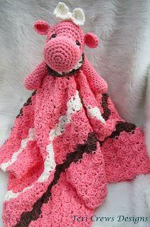 Teri Crews Designs: Hippo Huggy Blanket Crochet Pattern