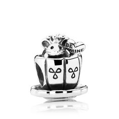 Pandora Enchanted Mouse Charm - sure would be nice if someone would think to get this for Mommy in honor of Mini's first birthday...
