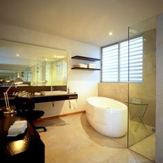 Contemporary Modern Interior Design for Your House: Wonderful Contemporary Modern Interior Design Bathroom Ideas With White Wall Wash Basin Also Bathtub Shower Table Lamp And Window Cabinet Towel Tissue Along With Ceramic Floor Ideas ~ boholmain.com Interior Design Inspiration