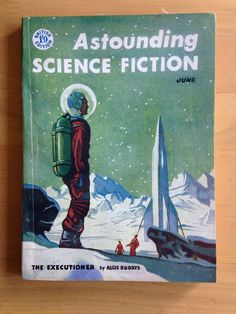 Vintage Astounding Science Fiction Pulp Magazine June 1956 An attractive copy of the British Edition of Astounding Science Fiction, one of the leading Science Fiction magazines edited by John W. Campbell. June 1956 and containing stories by Algis Budrys and Frank Herbert. With illustrations. Slight wear & slight creasing to spine, covers & corners   https://nemb.ly/p/Bk27nR9Me Happily published via Nembol