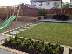 Family garden design and landscaping using locally sourced materials