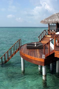 Ocean Pavilions are huge at 3,552 square feet; the private terrace juts out into the ocean. #Jetsetter