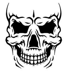 Skull face DXF file for CNC plasma router waterjet or laser
