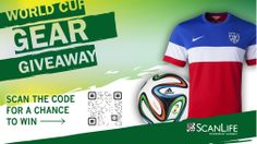 We're one week away from the #WorldCup - who's ready? Scan the code for a chance to win official gear! The promotion begins on  Thursday, June 5th, 2014 through Thursday, June 26th 2014. For a full list of rules visit the link provided or click on the banner.