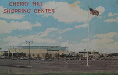 Vintage Postcard Photo 1960s CHERRY HILL SHOPPING MALL New Jersey
