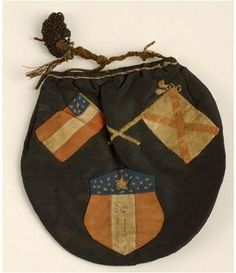 Tobacco pouch or sweet bag; probably made for a Kentucky soldier serving with the Confederate Army during the Civil War. - Visit to grab an amazing super hero shirt now on sale!