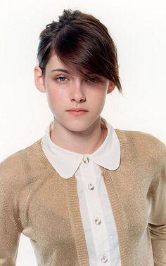 Kristen Stewart hair.  #kristenstewart #celebrities #hairstyle #style