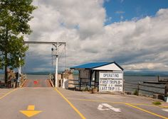 Lake Champlain ferry dock in Essex, NY. Looks like a storm coming! More at www.essexonlakechamplain.com
