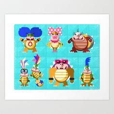 Koopalings! Art Print Promoters - $15.00