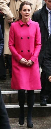 9 Dec 2014 - Mulberry Double Breasted Coat in cerise. Click to read full outfit details.
