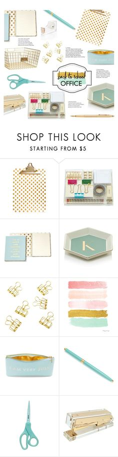 """""""Back to School- Office"""" by littledesigns ❤ liked on Polyvore featuring interior, interiors, interior design, home, home decor, interior decorating, Concepts in Time, Amara, Kate Spade and Fountain"""