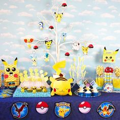 Pokemon is BACK! Are you looking for Pokemon Party Ideas? Check out this post full of DIY Pokemon Decorations, Pokemon Party Games and Pokemon Candy Table! Pokemon Party Supplies, Pokemon Party Decorations, Birthday Party Snacks, Birthday Gifts, 3rd Birthday, Birthday Ideas, Pokemon Candy, Pokemon Birthday, Pokemon Themed Party