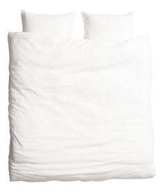 Bettwäsche aus Leinen | Weiß | Home | H&M DE