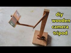 DIY Wooden stick mobile Tripod making at home Phone Tripod Diy, Diy Tripod, Camera Tripod, Diy Phone Stand, Tablet Stand, Electric Hand Drill, Pic Microcontroller, Wooden Camera, Mobile Stand