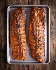 I slow-cooked 4 large racks of back ribs and finished them on the hot grill. Dry rubbed with a keto friendly piri-piri rub and finished with a little piri-piri & cilantro sauce. Piri Piri, Cilantro Sauce, Meatloaf, Ribs, Banana Bread, Slow Cooker, Grilling, Pork, Keto