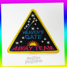 Fully Embroidered Heaven's Gate Away Team Replica Patch