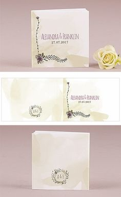 Personalized 'Natural Charm' Book-Style Notepads (Set of 12)