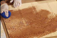 applying glaze accentuates intricate patterning