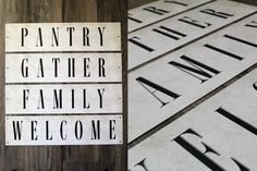 Metal Farmhouse Style Signs