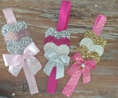 Heart In The Bow, Heart - Diy Crafts - hadido Ribbon Crafts, Ribbon Bows, Bead Crafts, Diy Crafts, Diy Hair Bows, Making Hair Bows, Diy Bow, Baby Girl Bows, Girls Bows
