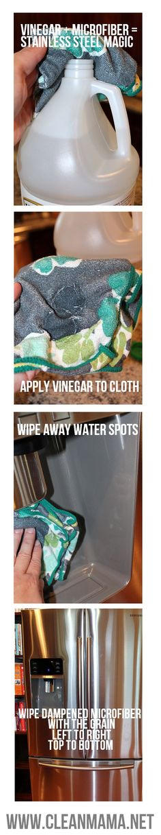 Cleaning your stainless steel appliances just got a whole lot easier with these tips from Clean Mama