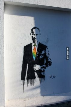 Awesome Street Art of Putin.