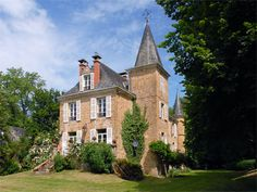 French Chateau for sale in 46 - Lot , Midi Pyrenees France. This XIXth C Château situated in the Perigord Noir is located approximately 20 km to the south of Brive in one of the prettiest areas of France surrounded by a number of the most beautiful villages of France including Rocamadour, Martel, Collonges La Rouge etc. The estate comprises a Château flanked by a square tower and two small round towers, a restored farmhouse currently used for holiday lets, a restored Maison de Maître used…