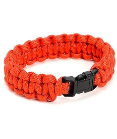 The Rothco Paracord red bracelet is a great style addition that can also help in a pinch. Be sensible and stylish with the red colorway bracelet made from soft and flexible 7 strand polyester Paracord material that is incredibly durable yet comfortable, 8