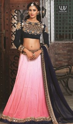 Groovy Viscose Pink Lace Work A Line Lehenga Choli Be the sunshine of anyone's eyes dressed with this lovely pink viscose a line lehenga choli. The embroidered, lace and resham work appears to be like chic and ideally suited for any occasion. Comes with matching choli and dupatta.
