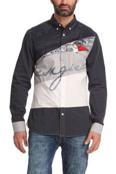 Desigual men's Cucumis shirt, in a naval style for a very original sporty look.
