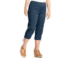 Style&co. Plus Size Cargo Capri Pants - Pants & Capris - Plus Sizes - Macy's