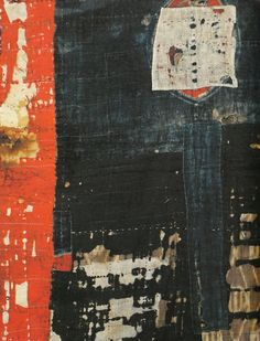 Boro: Antique Japanese Patched clothing - Close-up of a piece.