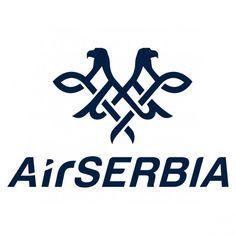 Logo of Air Serbia Air Serbia, Data Logo, Airline Logo, Logo Color, Logo Design, Logos, Welsh Dragon, Belgrade Serbia, Brainstorm