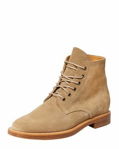 Rangers Suede Lace-Up Boot, Sand by Saint Laurent at Bergdorf Goodman.