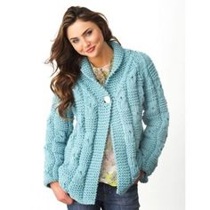 Textured Checks Cardigan in Bernat Softee Chunky. Discover more Patterns by Bernat at LoveKnitting. The world's largest range of knitting supplies - we stock patterns, yarn, needles and books from all of your favorite brands.