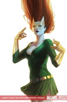 """The Green and Gold (not yellow) look of """"Marvel Girl"""" that inspired my color scheme."""