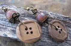 Button Earrings by brendalou2 on Etsy, $12.00