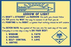 Arrow Of Light Ceremony | arrow of light ideas