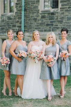 gray bridesmaids dresses #giveaway #joielle #backlapel #weddingchicks http://www.weddingchicks.com/2014/02/27/win-1000-to-outfit-your-bridal-party/