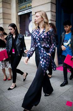 Street style at Paris Couture Week | Natalie Dormer [Photo: Kuba Dabrowski]