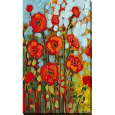 """Poppies I"" by Jennifer Lommers Painting Print on Wrapped Canvas 