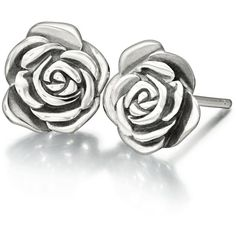 Amazon.com: Authentic Chamilia Sterling Silver Earrings A Rose is A... ($40) ❤ liked on Polyvore featuring jewelry, earrings, rose jewelry, chamilia, sterling silver jewellery, chamilia jewellery and chamilia earrings