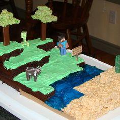Connor S 7th Birthday Minecraft Cake Part Chocolate