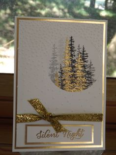 Stampin'Up Wonderland, gold and black