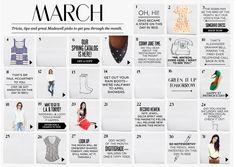 a to-do calendar maybe.. hmm - March Madewell calendar