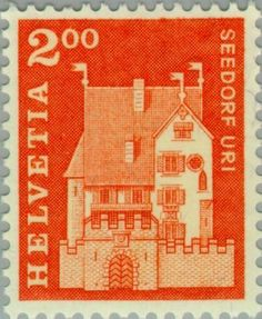 Sello: A Pro Castle, Seedorf, Uri (Suiza) (Postal history motives and monuments) Mi:CH 863,Sn:CH 452,Yt:CH 796,Zum:CH 424