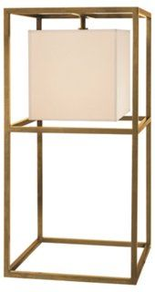 Living Room: Caged Table Lamp, Antiqued Brass