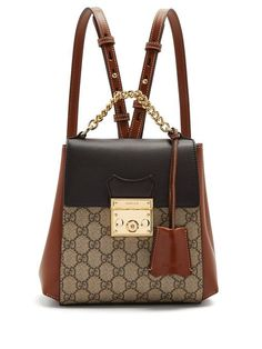 8eda2b4261d5 Gucci GG Supreme leather backpack  ladiesdesignerbags Luxury Bags